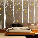 BDECOLL Stickers Arbre /6 Grands bouleaux et Oiseaux pour décoration de Chambre, Blanc/Chambre Bebe de la marque BDECOLL image 3 produit