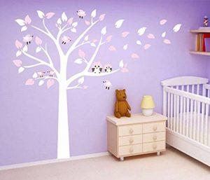 BDECOLL Stickers Enfants,2 mignonne Chouettes Stickers Enfants,Arbre Stickers chambre bébé de la marque BDECOLL image 0 produit