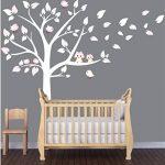 BDECOLL Stickers Enfants,2 mignonne Chouettes Stickers Enfants,Arbre Stickers chambre bébé de la marque BDECOLL image 3 produit