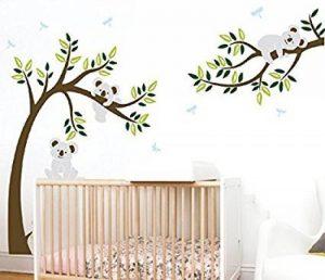 BDECOLL Stickers muraux,Arbre Mignonne Koalas Sticker mural pour bébé chambre décoration/autocollant bricolage pour les enfants de la marque BDECOLL image 0 produit