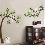 BDECOLL Stickers muraux,Arbre Mignonne Koalas Sticker mural pour bébé chambre décoration/autocollant bricolage pour les enfants de la marque BDECOLL image 1 produit