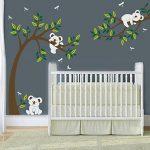 BDECOLL Stickers muraux,Arbre Mignonne Koalas Sticker mural pour bébé chambre décoration/autocollant bricolage pour les enfants de la marque BDECOLL image 2 produit