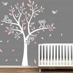 Bdecoll Stickers muraux,Grand Arbre Mignonne Koalas Sticker mural pour bébé chambre décoration/autocollant bricolage pour les enfants (Rose) de la marque BDECOLL image 1 produit