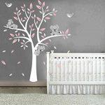 Bdecoll Stickers muraux,Grand Arbre Mignonne Koalas Sticker mural pour bébé chambre décoration/autocollant bricolage pour les enfants (Rose) de la marque BDECOLL image 3 produit
