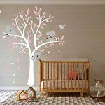 Bdecoll Stickers muraux,Grand Arbre Mignonne Koalas Sticker mural pour bébé chambre décoration/autocollant bricolage pour les enfants (Rose) de la marque BDECOLL image 2 produit
