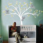 Bdecoll Stickers muraux,Grand Arbre Mignonne Koalas Sticker mural pour bébé chambre décoration/autocollant bricolage pour les enfants (Yellow) de la marque BDECOLL image 4 produit