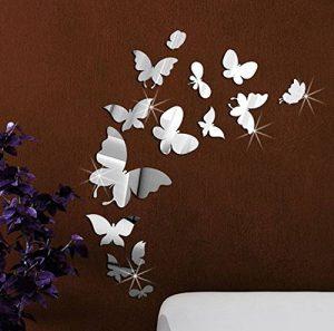 Beestick Stickers miroirs-Les 14 Petits Papillons, Plastique en Forme, 37x55 de la marque Beestick image 0 produit