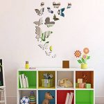 Beestick Stickers miroirs-Les 14 Petits Papillons, Plastique en Forme, 37x55 de la marque Beestick image 1 produit