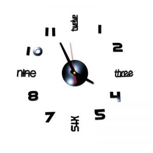 Beisoug 3D Chiffres Romains Bricolage Acrylique Miroir Sticker Mural Horloge décor à la Maison Stickers muraux de la marque Beisoug_Home image 0 produit