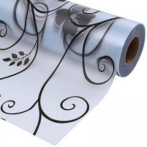 BESTOMZ Sticker Fênetre décoration en verre givré Autocollant Auto-adhésif pour Salle de bain Chambre Bureau Cuisine 45x100 cm de la marque BESTOMZ image 0 produit