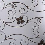 BESTOMZ Sticker Fênetre décoration en verre givré Autocollant Auto-adhésif pour Salle de bain Chambre Bureau Cuisine 45x100 cm de la marque BESTOMZ image 2 produit