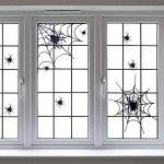 BESTOYARD Autocollants de fenêtre de Toile d'araignée d'halloween pour Les décalques de Mur de Partie de Club de Barre de pièce (Noir) de la marque BESTOYARD image 3 produit