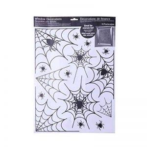 BESTOYARD Autocollants de fenêtre de Toile d'araignée d'halloween pour Les décalques de Mur de Partie de Club de Barre de pièce (Noir) de la marque BESTOYARD image 0 produit