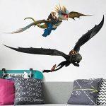 Bilderwelten Sticker Mural Dragons Dragon Duo, Tatouage Mural Tatouages muraux Sticker Mural, Dimension: 120cm x 180cm de la marque Bilderwelten image 1 produit