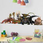 Bilderwelten Sticker Mural Dragons Dragon Group, Tatouage Mural Tatouages muraux Sticker Mural, Dimension: 20cm x 60cm de la marque Bilderwelten image 1 produit