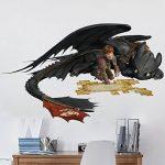 Bilderwelten Sticker Mural Dragons Hiccup and Toothless Plan, Tatouage Mural Tatouages muraux Sticker Mural, Dimension: 30cm x 45cm de la marque Bilderwelten image 1 produit