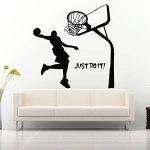 Bluelover Just Do It Basketball Decal Bricolage Amovible Sports Accueil Salle Decor Mur Autocollant Papier Peint Sticker de la marque Bluelover image 2 produit