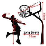 Bluelover Just Do It Basketball Decal Bricolage Amovible Sports Accueil Salle Decor Mur Autocollant Papier Peint Sticker de la marque Bluelover image 3 produit