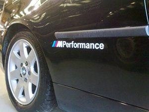 BMW M Performance Graphique en Vinyle adhésif Autocollant de Voiture Autocollants (Paire) (Ss20004) de la marque BMW image 0 produit