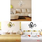 Bobury 3D Moderne Circles Miroir Horloge murale Montres Wall Stickers miroir horloge murale Home Decor de la marque Bobury image 1 produit