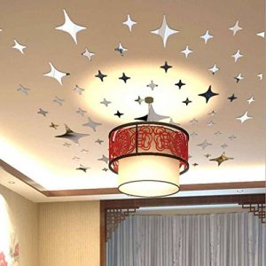 Bobury 43pcs Twinkle Stars Décoration de plafond Crystal Reflective DIY Mirror 3D Stickers muraux de la marque Bobury image 0 produit