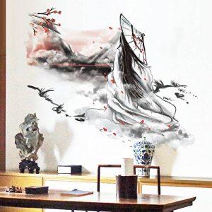 Bomeautify La beauté de lac de style chinois peut enlever la créativité les autocollants de mur les papiers autocollants les murs les papiers peints de la marque Bomeautify image 0 produit