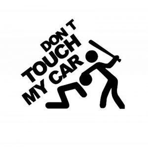"""Car Styling Autocollant """"Don't Touch My Car"""" Autocollant de voiture en vinyle film de décoration DIY Autocollant de voiture Tuning pièces 20*15*1 cm (Noir) de la marque KUNFINE image 0 produit"""