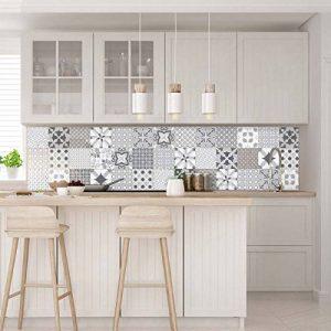 Carreaux de ciment adhésif mural - azulejos - 15 x 15 cm - 30 pièces de la marque Ambiance-Live image 0 produit