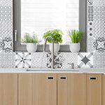 Carreaux de ciment adhésif mural - azulejos - 15 x 15 cm - 30 pièces de la marque Ambiance-Live image 1 produit