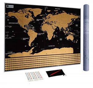 Carte du Monde à gratter XXL avec Drapeaux, détaillée et précise - Cadeau idéal pour les voyageurs - Poster Grand Format 82 x 59 cm. Stylo de grattage | Stickers | Belle pochette OFFERTS de la marque AmazamA image 0 produit