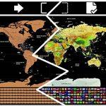 Carte du Monde à gratter XXL avec Drapeaux, détaillée et précise - Cadeau idéal pour les voyageurs - Poster Grand Format 82 x 59 cm. Stylo de grattage   Stickers   Belle pochette OFFERTS de la marque AmazamA image 2 produit