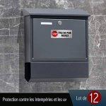 CeenoSign Autocollant Pas de Publicité Stop pub Boite aux Lettres Sticker Haute qualité Apparence en Inoxydable 8x3.3cm Lot de 12 pièces de la marque CeenoSign image 2 produit