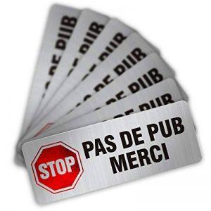 CeenoSign Autocollant Pas de Publicité Stop pub Boite aux Lettres Sticker Haute qualité Apparence en Inoxydable 8x3.3cm Lot de 12 pièces de la marque CeenoSign image 0 produit