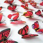 Cestlafit Autocollant De Mur De Papillon De Mode 3D, Papillon De Simulation De PVC pour Le Décor À La Maison, Décoration De Mur, Paquet De 24, Rouge de la marque Cestlafit image 3 produit