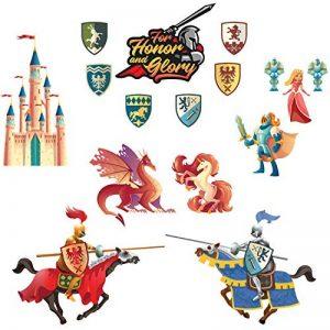 Chevaliers Stickers Muraux Dragon Licorne Princesse Autocollant Décoration Chambre Enfant de la marque Prodesign image 0 produit