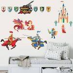 Chevaliers Stickers Muraux Dragon Licorne Princesse Autocollant Décoration Chambre Enfant de la marque Prodesign image 2 produit