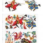 Chevaliers Stickers Muraux Dragon Licorne Princesse Autocollant Décoration Chambre Enfant de la marque Prodesign image 3 produit