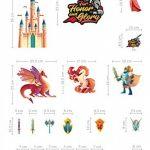 Chevaliers Stickers Muraux Dragon Licorne Princesse Autocollant Décoration Chambre Enfant de la marque Prodesign image 4 produit