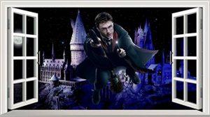 Chicbanners Harry Potter Poudlard Château 3D Magic Window V0102Sticker Mural Autocollant Poster Art Mural Taille 1000mm de Large x 600mm de Profondeur (Grande) de la marque Chicbanners image 0 produit