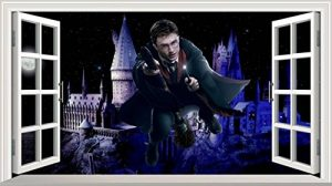 Chicbanners Harry Potter Poudlard Château 3D Magic Window V0102 Sticker Mural Autocollant Poster Art Mural Taille 1000 mm de Large x 600 mm de Profondeur (Grande) de la marque Chicbanners image 0 produit