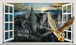 Chicbanners Harry Potter Poudlard Château Hedwige Chouette 3D Magic Window V444Sticker Mural Autocollant Poster Art Mural Taille 1000mm de Large x 600mm de Profondeur (Grande) de la marque Chicbanners image 0 produit