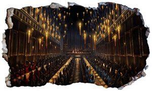 Chicbanners Harry Potter Poudlard Principale Salle à Manger Hall 3D Magic Window V333Sticker Mural Autocollant Poster Art Mural Taille 1000mm de Large x 600mm de Profondeur (Grande) V2 de la marque Chicbanners image 0 produit