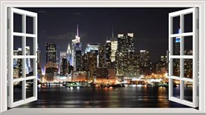 Chicbanners New York NY 3D V001 Magic Window Sticker Mural Autocollant Poster Art Mural Taille 1000 mm de Large x 600 mm de Profondeur (Grande) de la marque Chicbanners image 0 produit