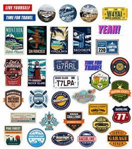 Chileeany Lot de 35 Rétro Vintage Stickers Valise Autocollants pour Valise Voyage Skateboard Guitare(World Tour) de la marque Chileeany image 0 produit