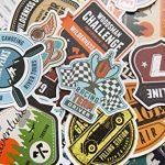 Chileeany Lot de 35 Rétro Vintage Stickers Valise Autocollants pour Valise Voyage Skateboard Guitare(World Tour) de la marque Chileeany image 2 produit