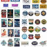 Chileeany Lot de 35 Rétro Vintage Stickers Valise Autocollants pour Valise Voyage Skateboard Guitare(World Tour) de la marque Chileeany image 4 produit