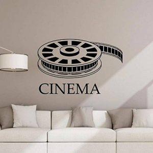 Cinéma Sticker Film Film Affiche de Home Cinéma Signe Citation Salle de Jeux Vinyle Autocollant Vidéo Bande Autocollante Murale 57 * 58cm de la marque Crjzty image 0 produit
