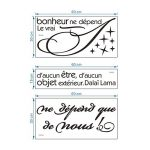 citation stickers chambre TOP 6 image 3 produit