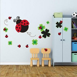 Coccinelle - Sticker mural (Muraux Décoration Murale Stickers Wall Decal Autocollants Salon Chambre d'enfants Nursery Made in Germany) de la marque denoda image 0 produit
