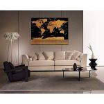 colleer monde à gratter Carte du monde Poster Carte du monde en anglais géographique Carte pour Voyage Stickers muraux décoratifs dans le studio, or à noir/82.5* 59.5cm de la marque Pulchram image 3 produit